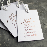 Text From a Friend 'Let's Pretend You Don't Know' Gift Tag
